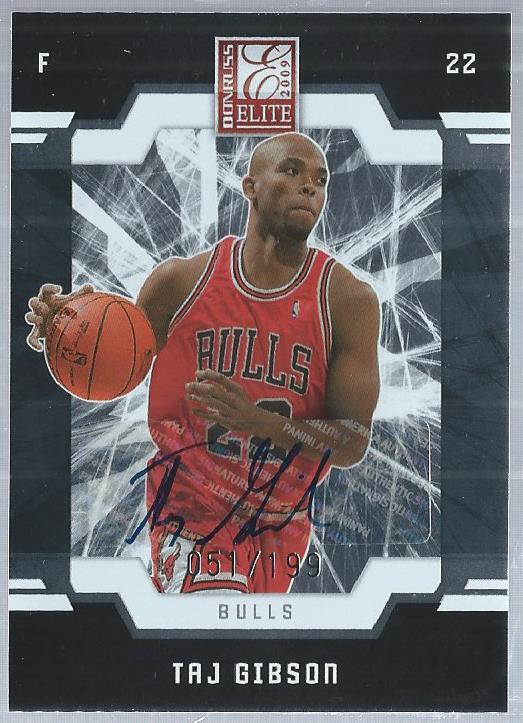 2009-10 Donruss Elite #184 Taj Gibson/199 AU RC