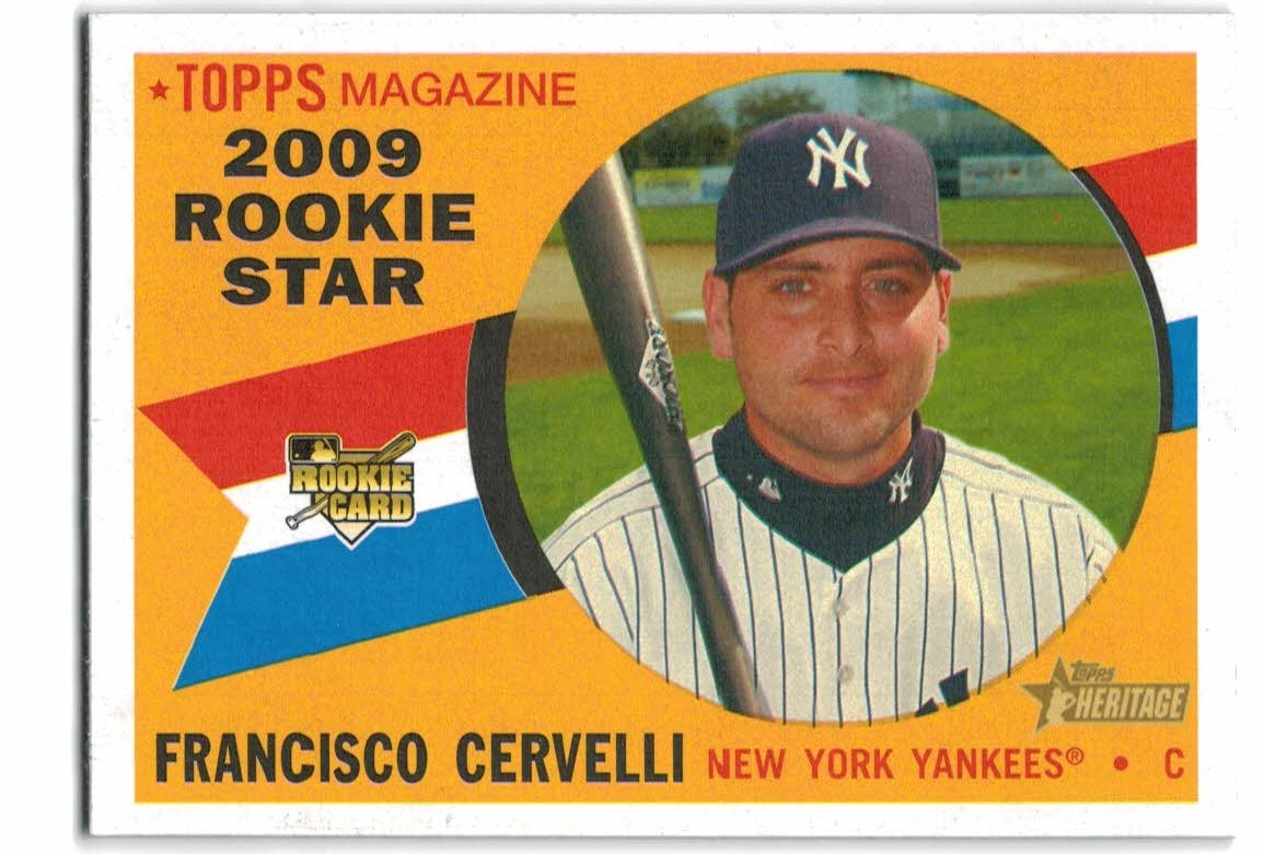 2009 Topps Heritage #571 Francisco Cervelli RC
