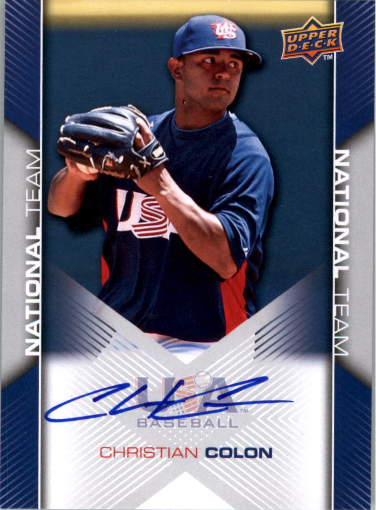 2009-10 USA Baseball #USA62 Christian Colon AU