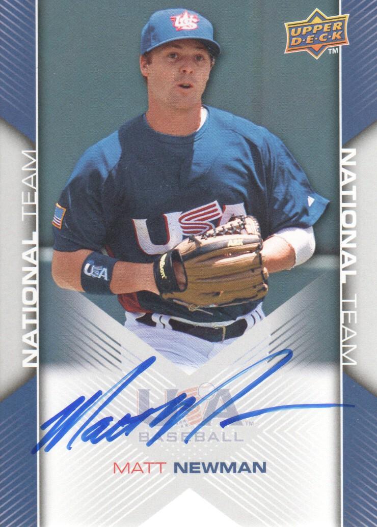 2009-10 USA Baseball #USA75 Matt Newman AU