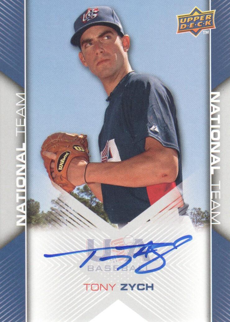 2009-10 USA Baseball #USA80 Tony Zych AU