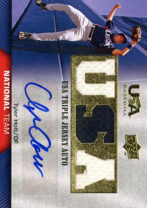 2009-10 USA Baseball National Team Jersey Autographs #TH Tyler Holt
