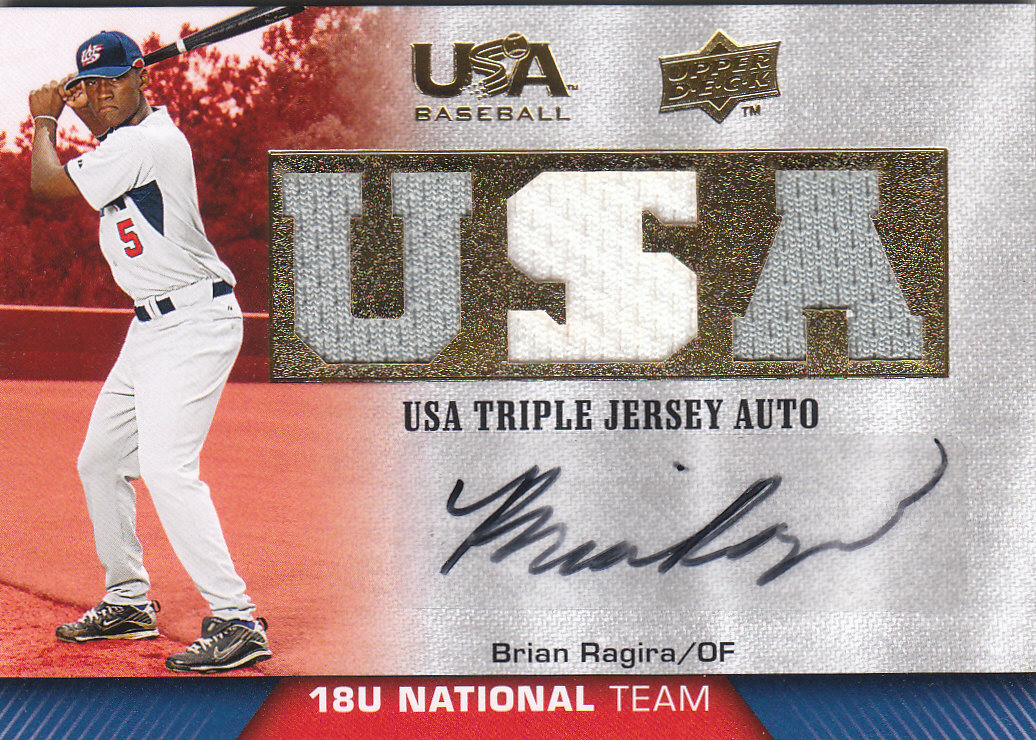 2009-10 USA Baseball 18U National Team Jersey Autographs #BR Brian Ragira/149