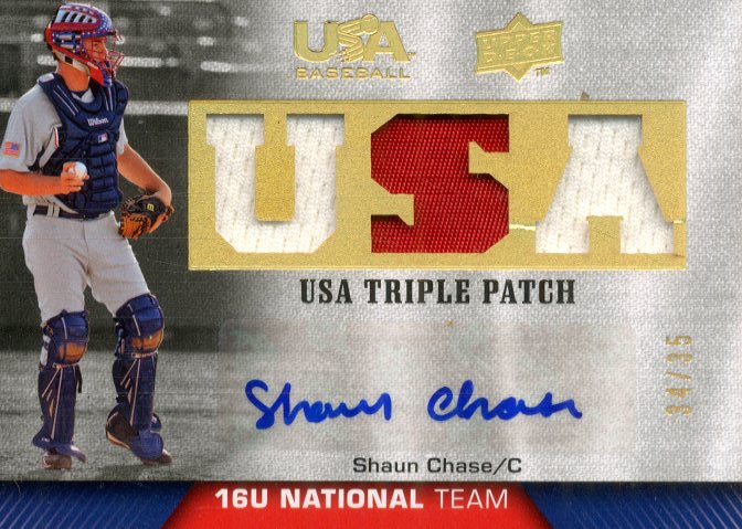 2009-10 USA Baseball 16U National Team Patch Autographs #SC Shaun Chase