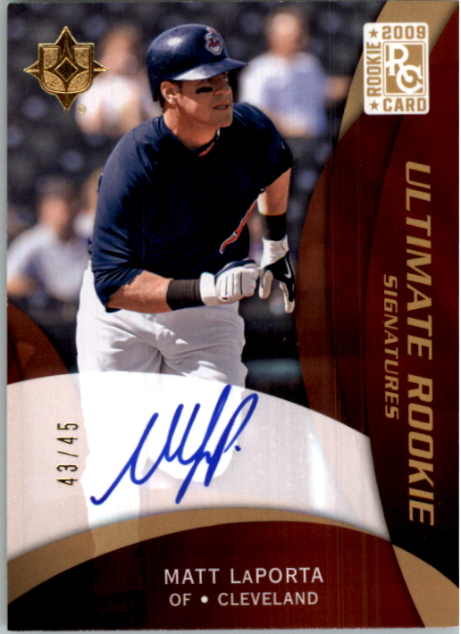 2009 Ultimate Collection Gold Rookie Signatures #107a Matt LaPorta/45