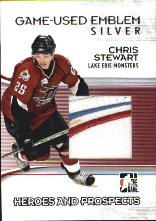 2009-10 ITG Heroes and Prospects Game Used Emblems Silver #M16 Chris Stewart