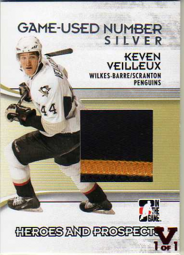 2009-10 ITG Heroes and Prospects Game Used Numbers Silver #M42 Keven Veilleux