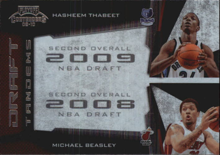 2009-10 Playoff Contenders Draft Tandems #1 Hasheem Thabeet/Michael Beasley