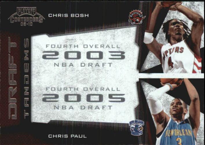 2009-10 Playoff Contenders Draft Tandems #3 Chris Bosh/Chris Paul