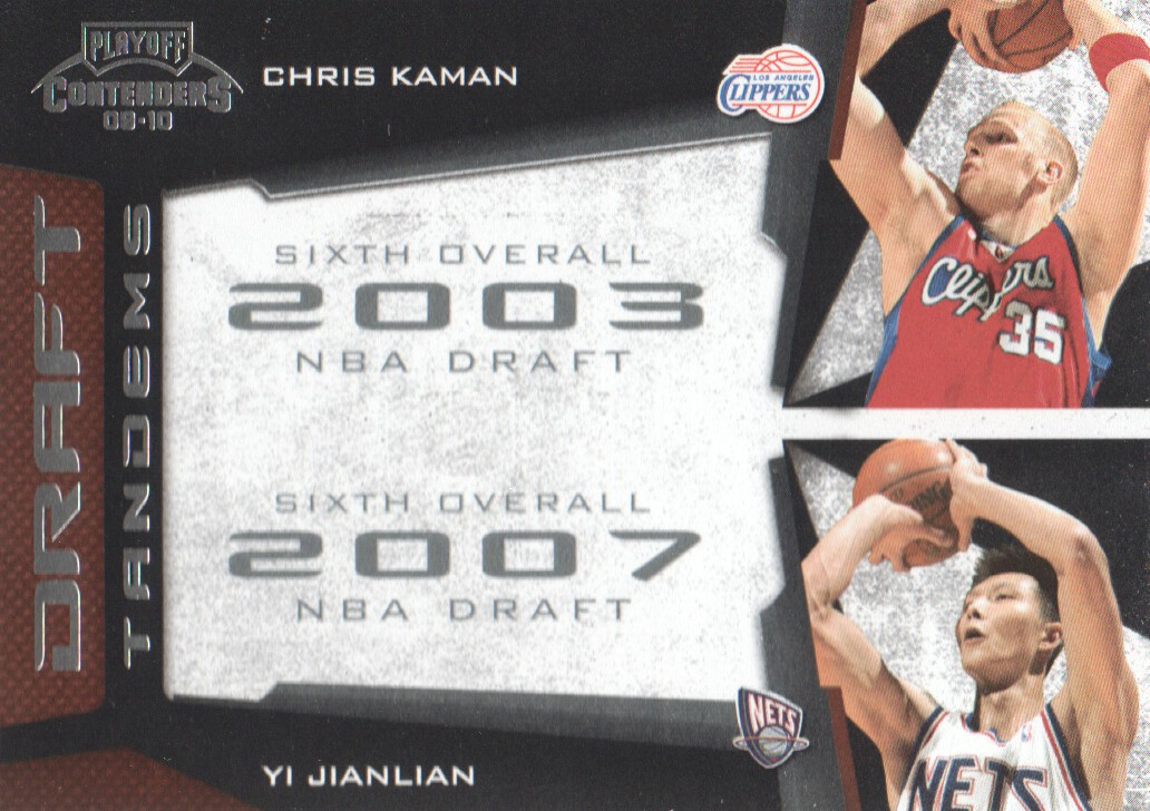 2009-10 Playoff Contenders Draft Tandems #6 Chris Kaman/Yi Jianlian