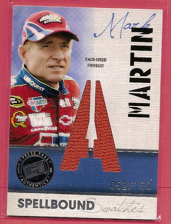 2010 Press Pass Eclipse Spellbound Swatches #SSMM2 Mark Martin A