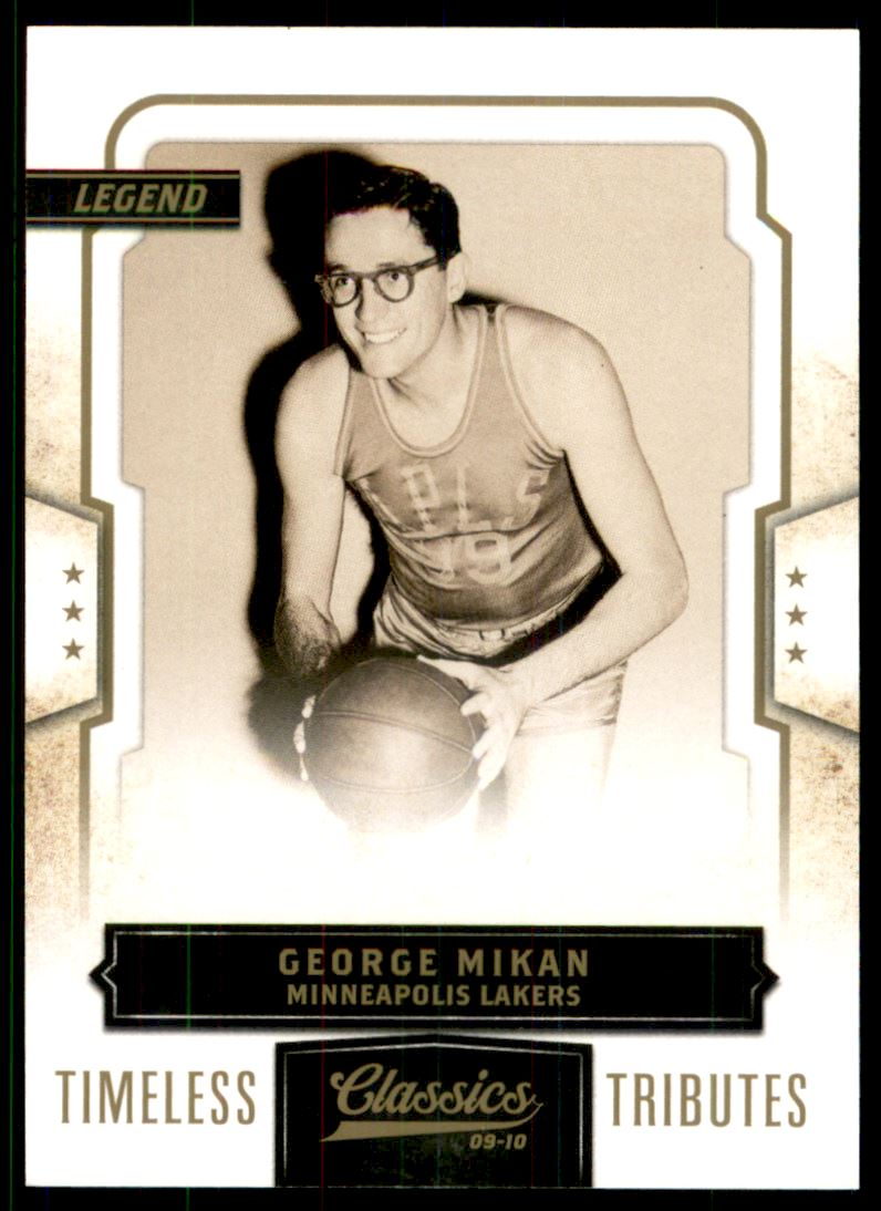 2009-10 Classics Timeless Tributes Gold #106 George Mikan
