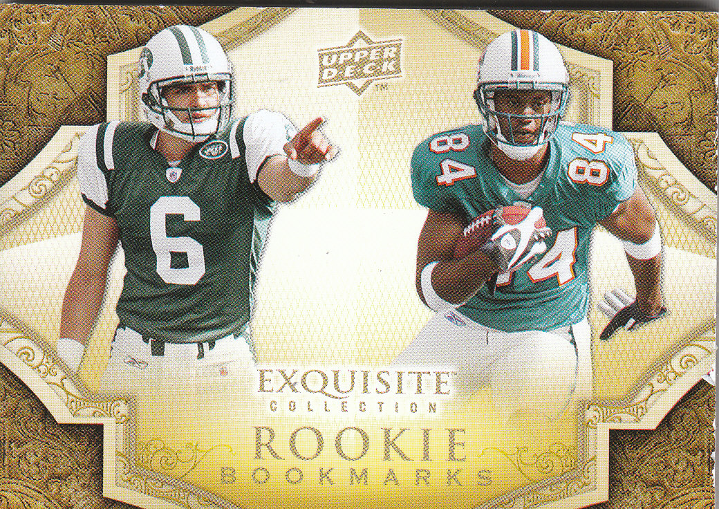 2009 Exquisite Collection Rookie Bookmark Patch Autographs #TS Mark Sanchez/35/Patrick Turner