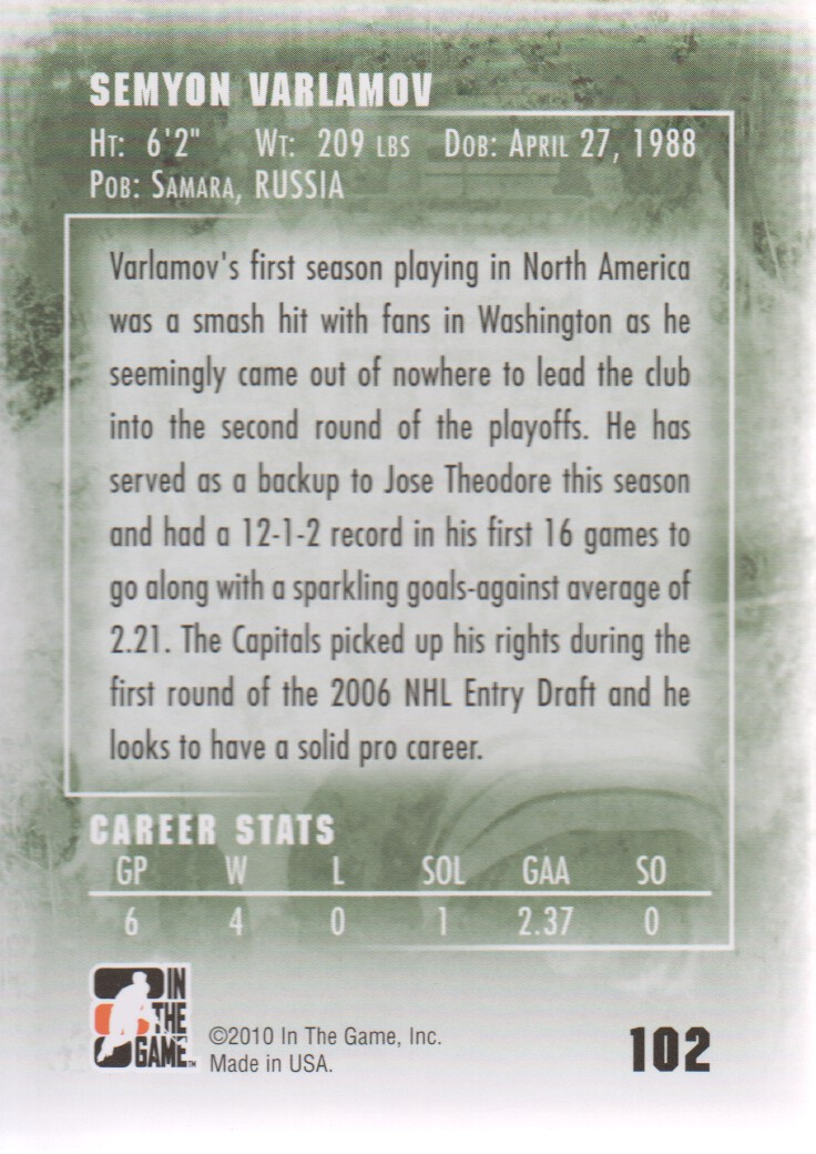 2009-10-Between-the-Pipes-Hockey-Cards-Pick-From-List