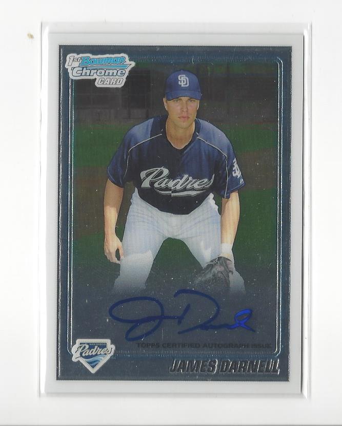 2010 Bowman Chrome Prospects Autographs #BCP115 James Darnell Auto Rookie Card