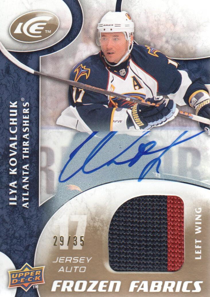 2009-10 Upper Deck Ice Frozen Fabrics Autographs #FRIK Ilya Kovalchuk