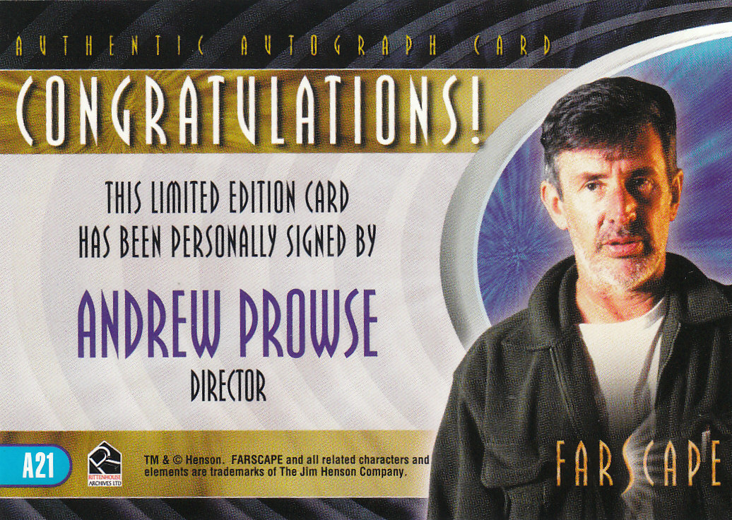 2002 Farscape Season Three Autographs #A21 Andrew Prowse back image