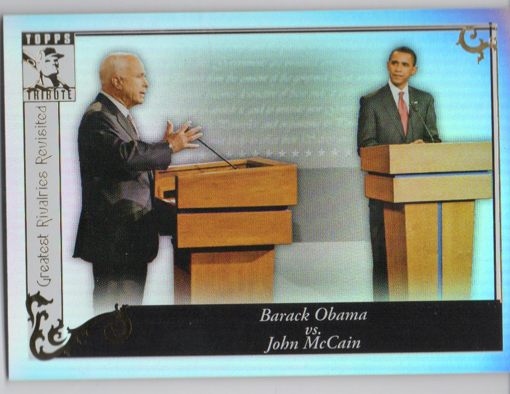 2010 Topps Tribute #96 Barack Obama vs John McCain