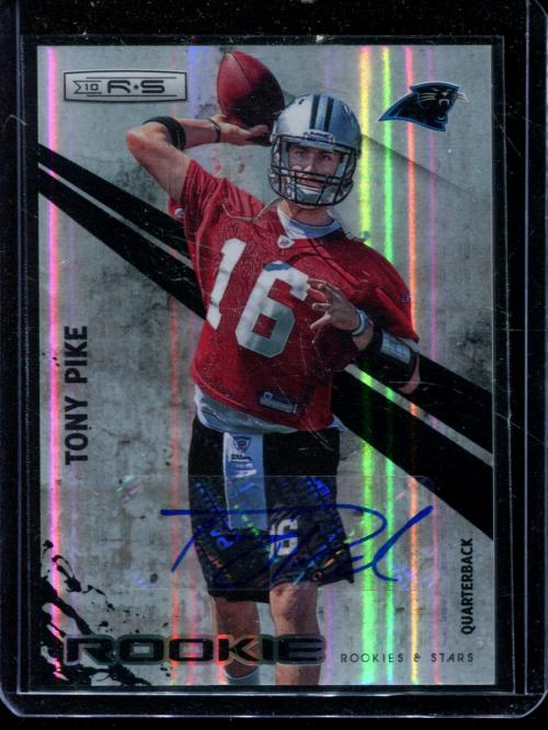2010 Rookies and Stars Rookie Autographs Holofoil #244 Tony Pike