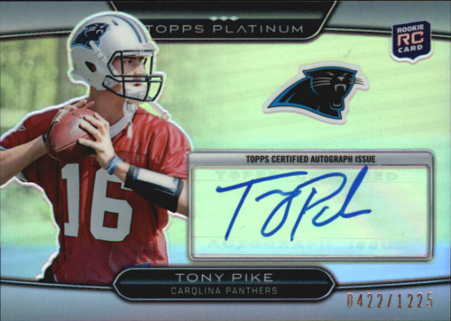 2010 Topps Platinum Rookie Autographs #11 Tony Pike/1225