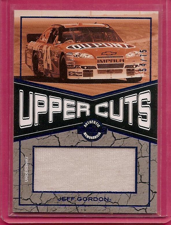 2010 Wheels Main Event Upper Cuts Blue #UCJG Jeff Gordon/Shirt/75