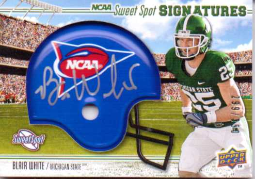 2010 Sweet Spot Rookie Signatures Variations #102A Blair White/350