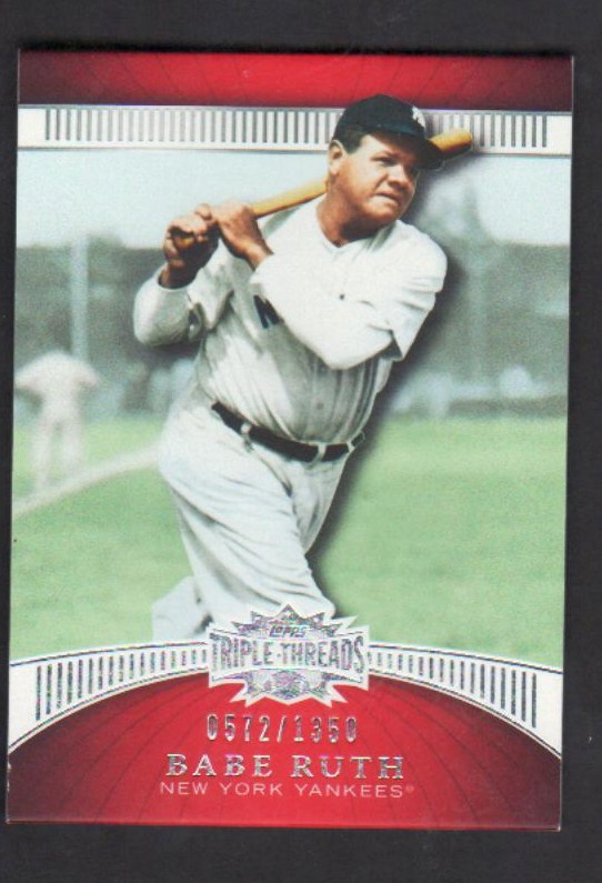2010 Topps Triple Threads #36 Babe Ruth