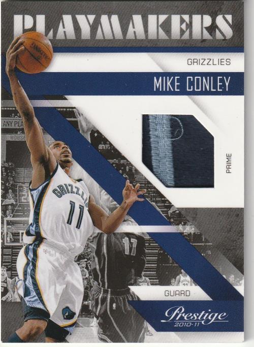 2010-11 Prestige Playmakers Materials Prime #10 Mike Conley Jr./49
