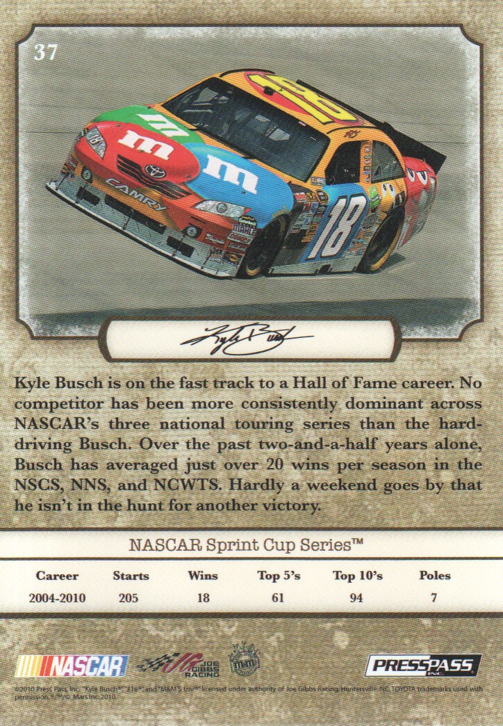 2010-Press-Pass-Legends-Parallels-NASCAR-Racing-Cards-Pick-From-List thumbnail 3