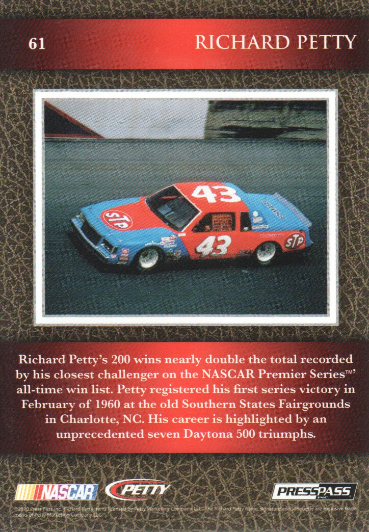 2010-Press-Pass-Legends-Parallels-NASCAR-Racing-Cards-Pick-From-List thumbnail 9