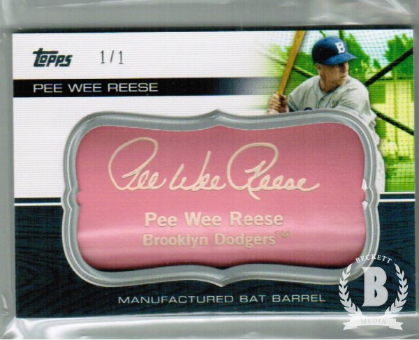 2010 Topps Update Manufactured Bat Barrel Pink #MB155 Pee Wee Reese