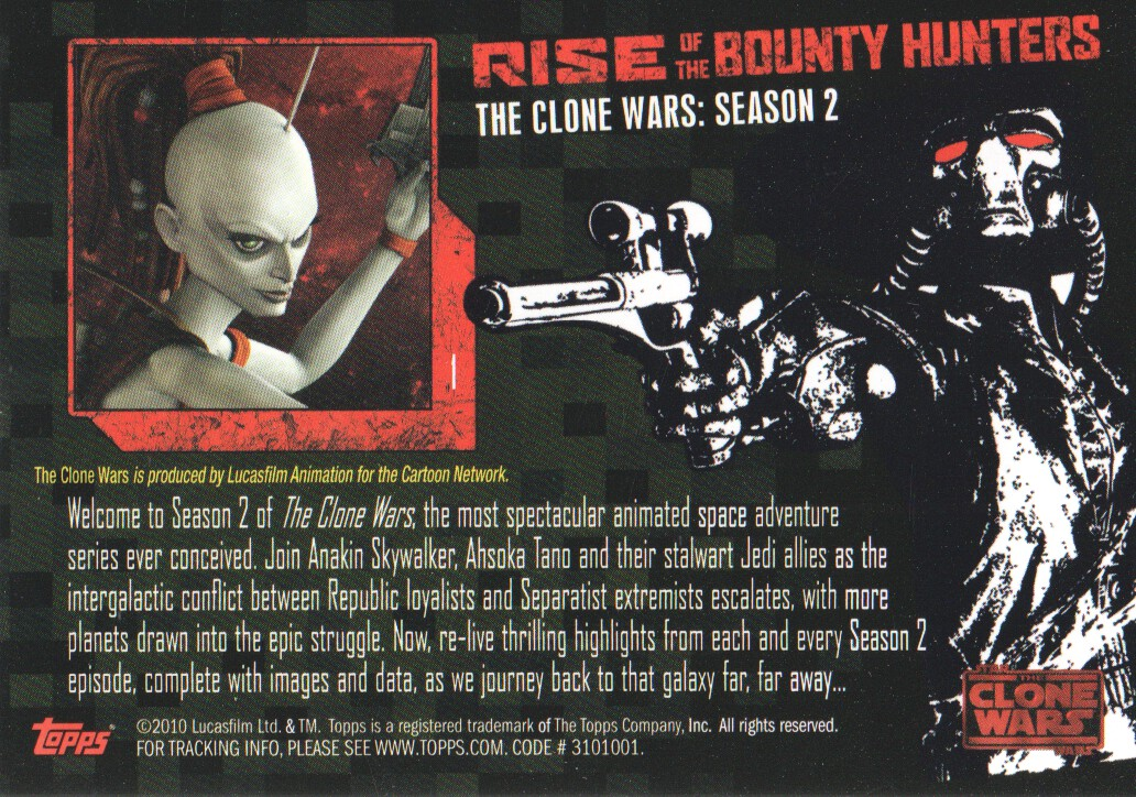 2010-Star-Wars-The-Clone-Wars-Rise-of-the-Bounty-Hunters-Cards-Pick-From-List miniature 3