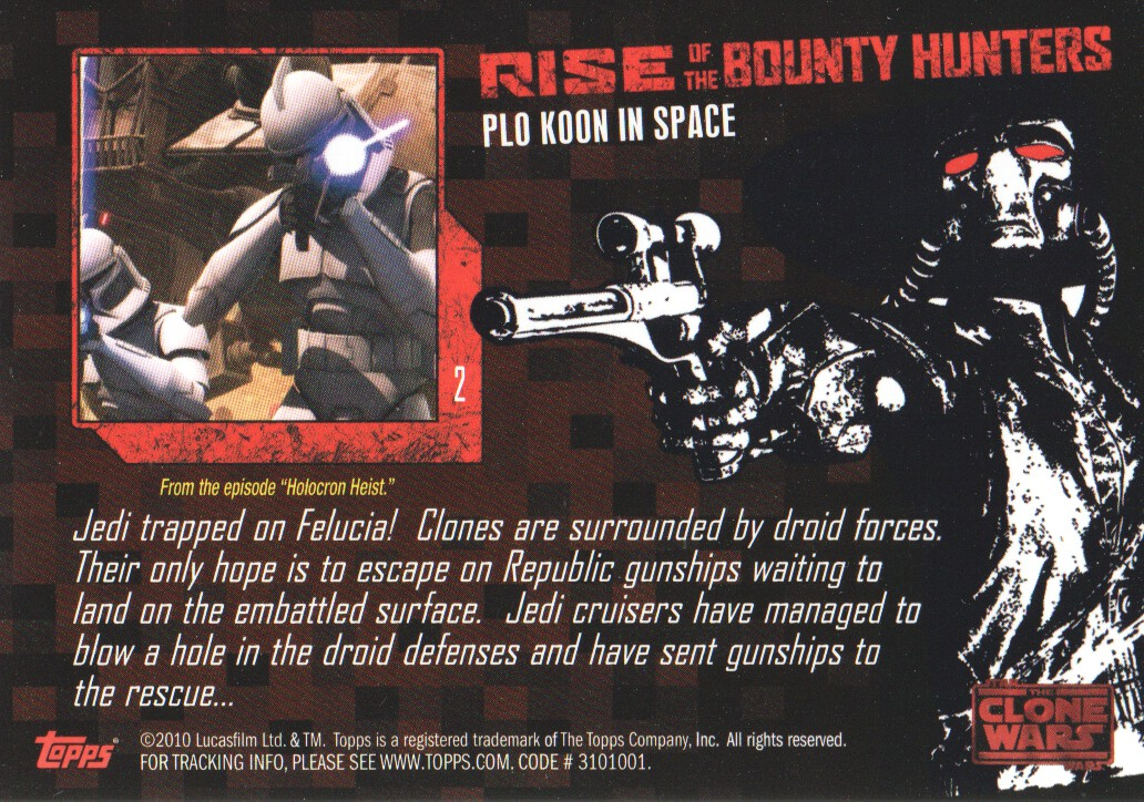 2010-Star-Wars-The-Clone-Wars-Rise-of-the-Bounty-Hunters-Cards-Pick-From-List miniature 5