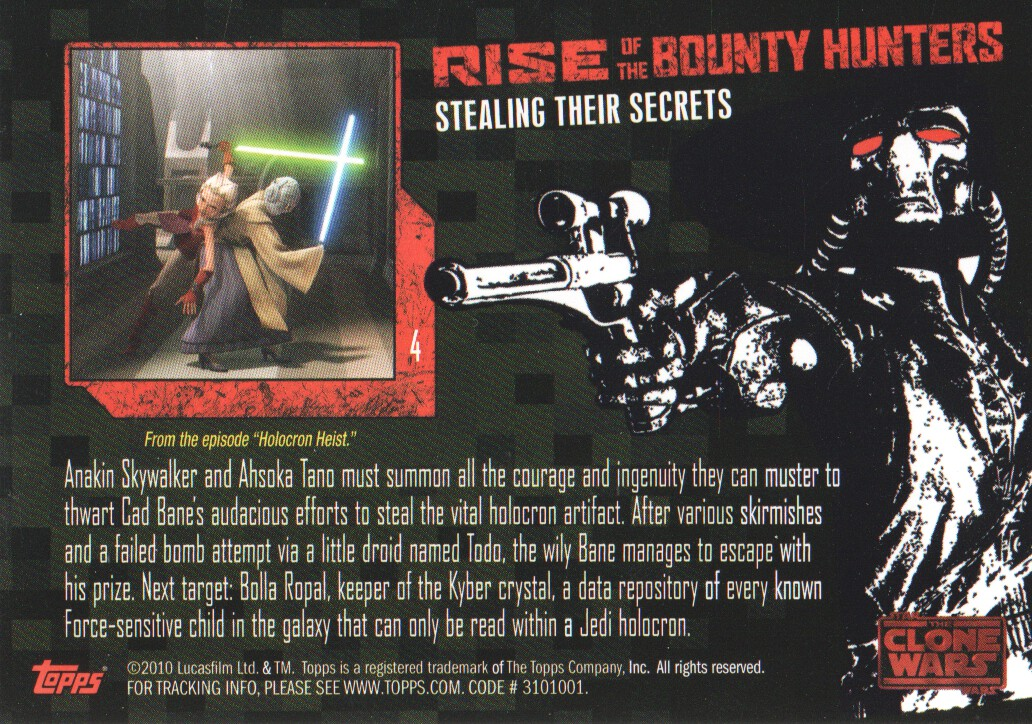 2010-Star-Wars-The-Clone-Wars-Rise-of-the-Bounty-Hunters-Cards-Pick-From-List miniature 9