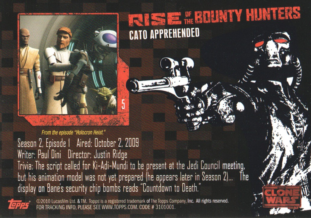 2010-Star-Wars-The-Clone-Wars-Rise-of-the-Bounty-Hunters-Cards-Pick-From-List miniature 11