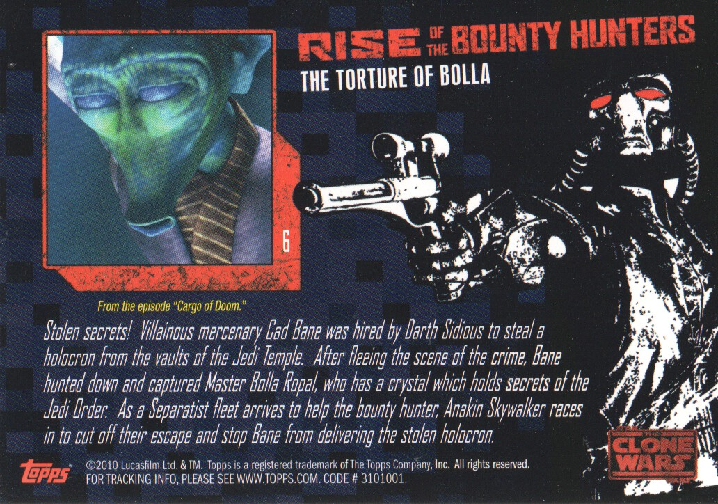 2010-Star-Wars-The-Clone-Wars-Rise-of-the-Bounty-Hunters-Cards-Pick-From-List miniature 13