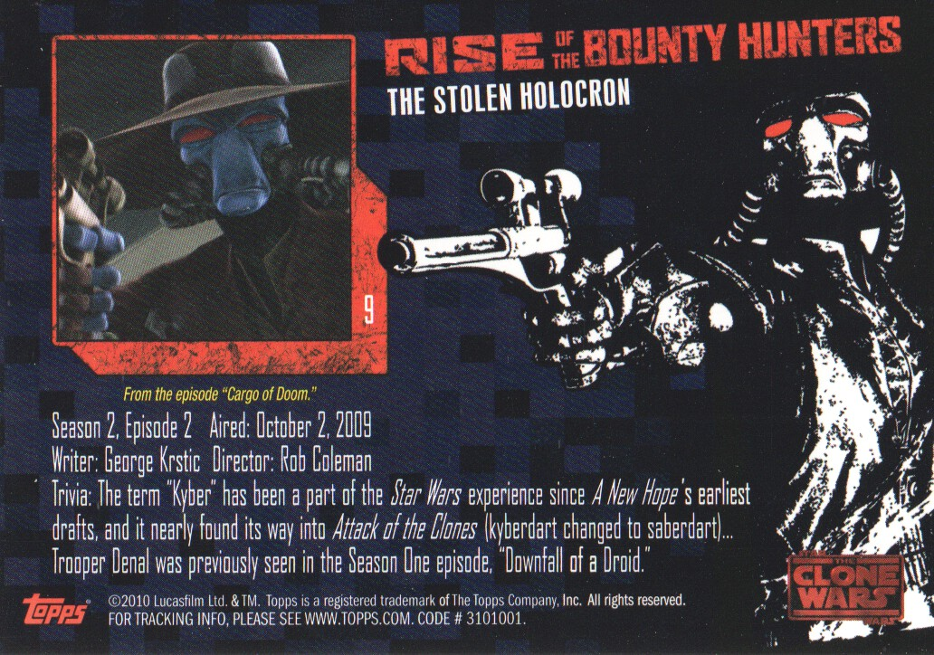 2010-Star-Wars-The-Clone-Wars-Rise-of-the-Bounty-Hunters-Cards-Pick-From-List miniature 19