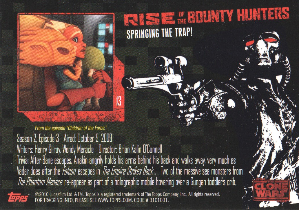 2010-Star-Wars-The-Clone-Wars-Rise-of-the-Bounty-Hunters-Cards-Pick-From-List miniature 27