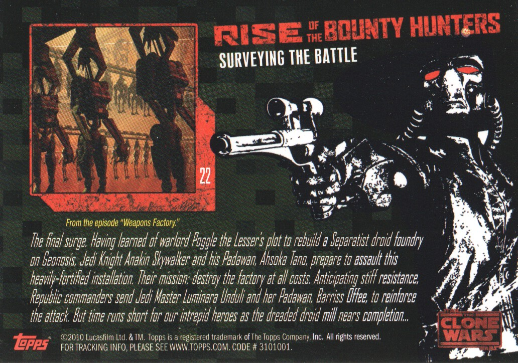 2010-Star-Wars-The-Clone-Wars-Rise-of-the-Bounty-Hunters-Cards-Pick-From-List miniature 45