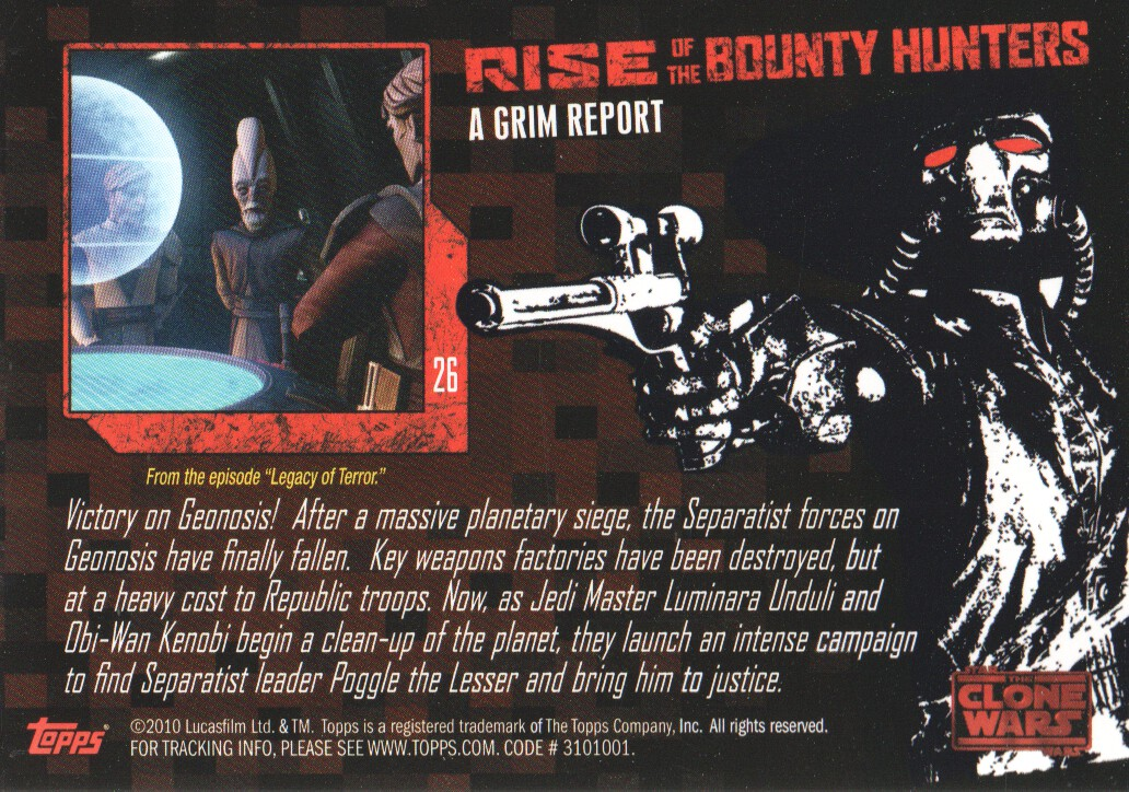 2010-Star-Wars-The-Clone-Wars-Rise-of-the-Bounty-Hunters-Cards-Pick-From-List miniature 53