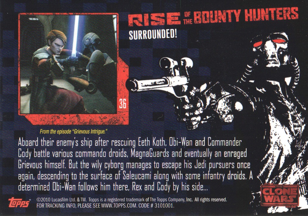 2010-Star-Wars-The-Clone-Wars-Rise-of-the-Bounty-Hunters-Cards-Pick-From-List miniature 73