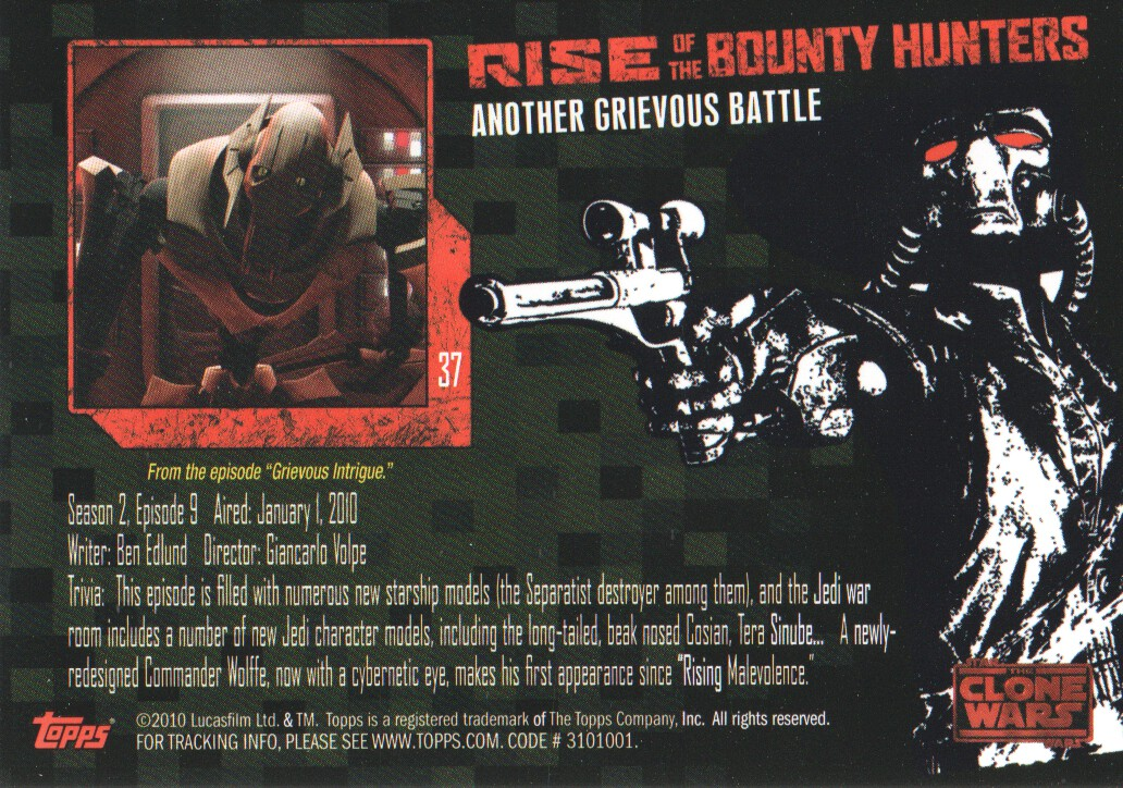 2010-Star-Wars-The-Clone-Wars-Rise-of-the-Bounty-Hunters-Cards-Pick-From-List miniature 75