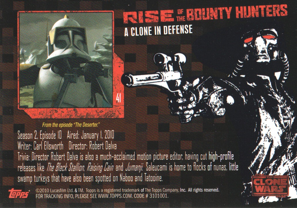 2010-Star-Wars-The-Clone-Wars-Rise-of-the-Bounty-Hunters-Cards-Pick-From-List miniature 83