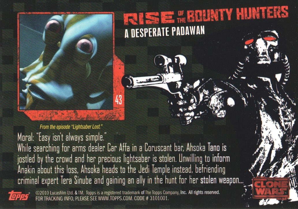 2010-Star-Wars-The-Clone-Wars-Rise-of-the-Bounty-Hunters-Cards-Pick-From-List miniature 87