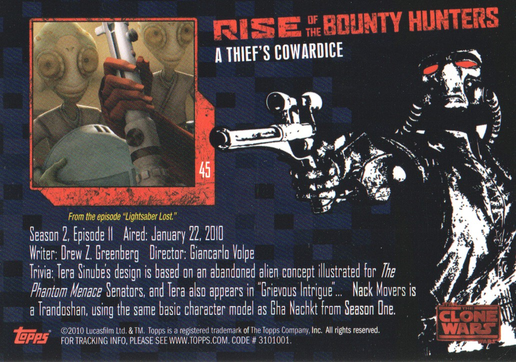 2010-Star-Wars-The-Clone-Wars-Rise-of-the-Bounty-Hunters-Cards-Pick-From-List miniature 91