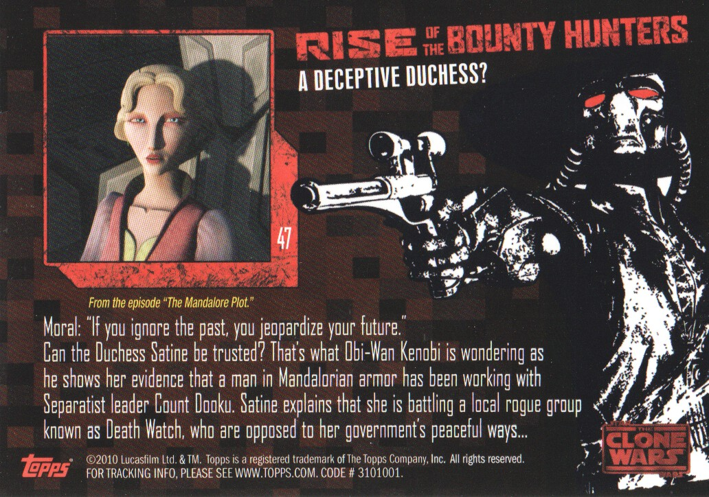 2010-Star-Wars-The-Clone-Wars-Rise-of-the-Bounty-Hunters-Cards-Pick-From-List miniature 95