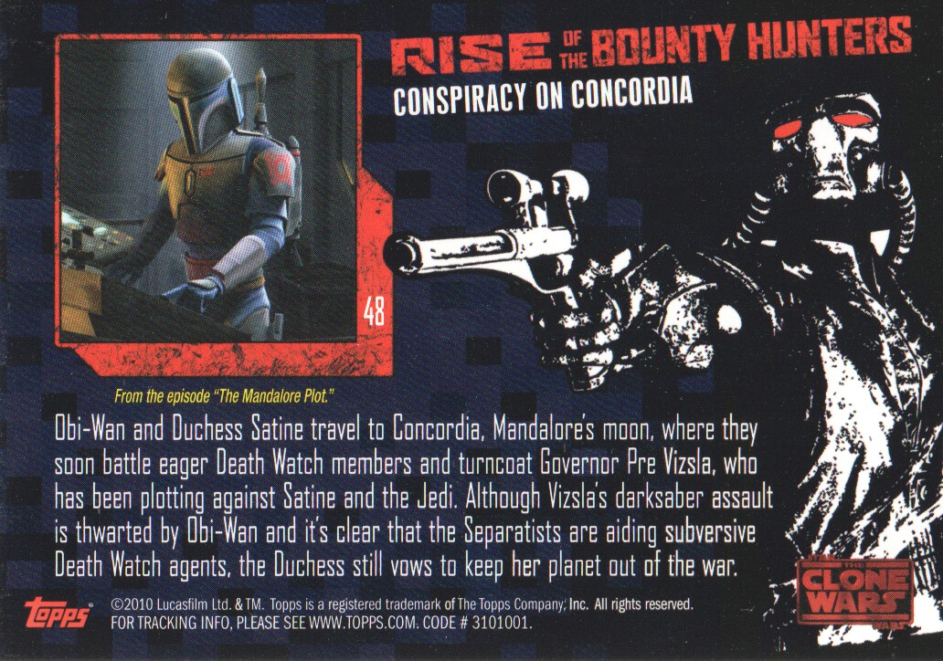 2010-Star-Wars-The-Clone-Wars-Rise-of-the-Bounty-Hunters-Cards-Pick-From-List miniature 97