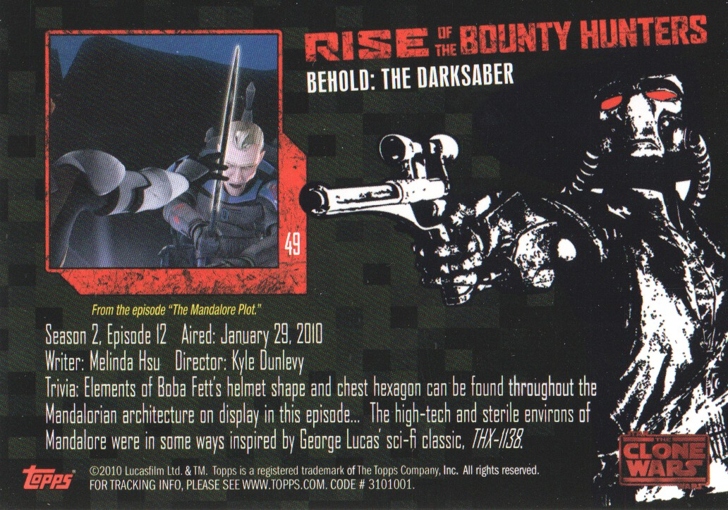 2010-Star-Wars-The-Clone-Wars-Rise-of-the-Bounty-Hunters-Cards-Pick-From-List miniature 99