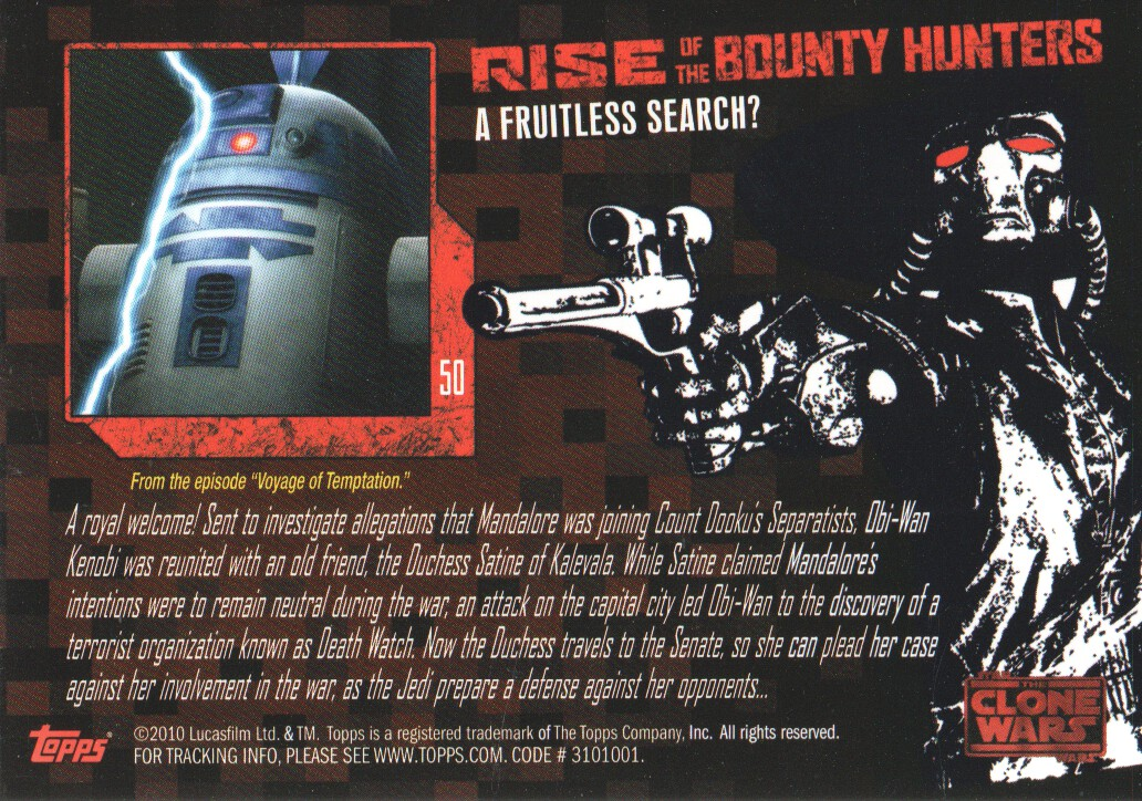 2010-Star-Wars-The-Clone-Wars-Rise-of-the-Bounty-Hunters-Cards-Pick-From-List miniature 101