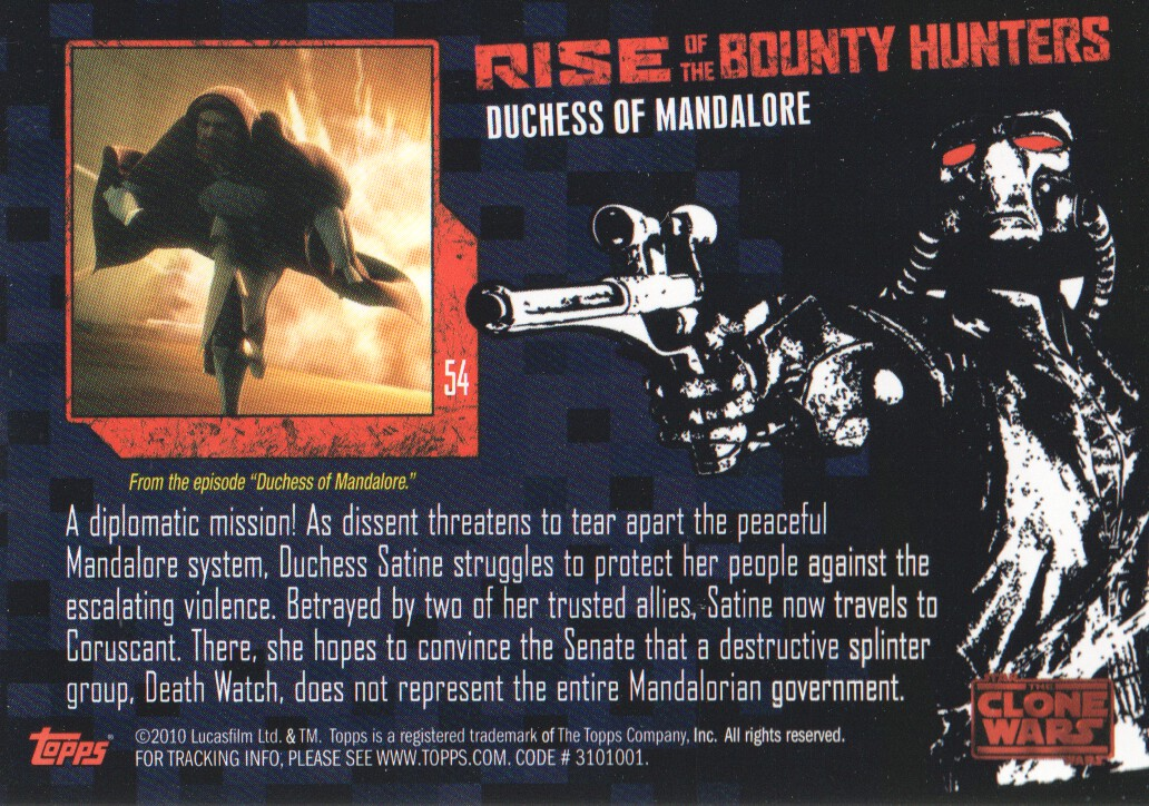 2010-Star-Wars-The-Clone-Wars-Rise-of-the-Bounty-Hunters-Cards-Pick-From-List miniature 109